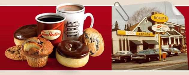 Tim Hortons, caffè e ciambelle