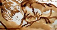 Pittura al caffè alla biennale di Firenze
