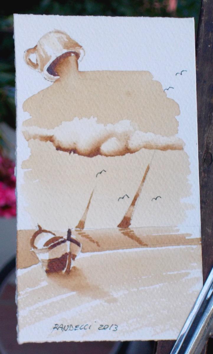 Roberto Randelli pittura al caffè